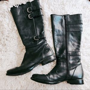 BORN BOOTS HIGH LEATHER ZIP size 9